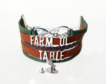 Farmer Bracelet | Farmer Jewelry | Farmer Gift | Farmers Market Jewelry | Farm To Table | Farm Stand Gifts | Gardener | Gardener Bracelet