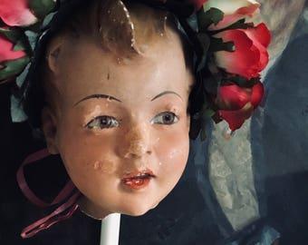 Stunning sweet Child mannequin head ,rare 1930