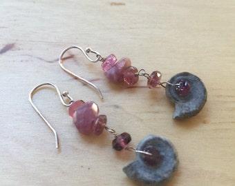 Insouciant Studios Ocean Rose  Earrings