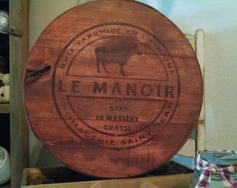 Country French Upcycled Cheese Box - Le Manior Brie