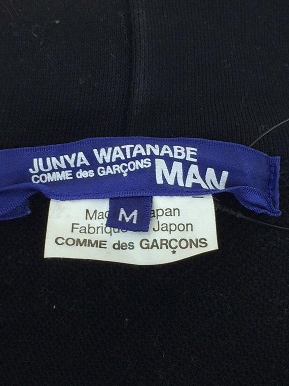 Watanabe Back Print Hoodie Junya Garcons Comme Medium Des Black R1PdqYx