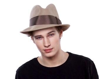 Gift for Him Men's Gift Mens Felt Fedora Hat 1920s Hat 1930s Hat 1940s Hat Spring Accessories Spring Fashion Men's Hat