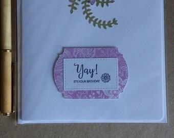 Lady Birthday Card, Female Happy Birthday, Happy Birthday Card. Handmade, Unusual card