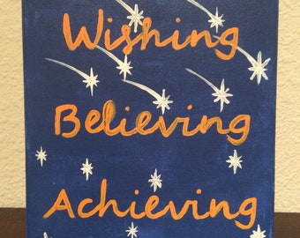 Wishing Believing Achieving Canvas Art