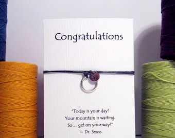 Personalized Karma Make a Wish Bracelet Perfect for Graduation