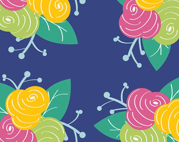 One Yard Gleeful - Preppy Fleurs - Premium Cotton Quilt Fabric - by Sew Caroline for Art Gallery Fabrics - AGF Limited Edition (W1965)