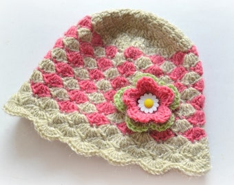 Crochet hat pattern, womens hat pattern, shell stitch hat, pattern no. 120