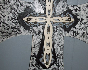 Large Decorative Wall Crosses, Wooden And Metal Crosses, Rustic Wood Crosses,  Unique Wall