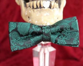 HandMade Bowtie- Upcycled Neckties- Adjustable Bowties- Polyester Bowties