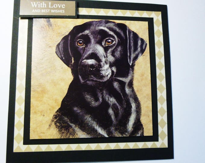 Black Labrador Card, Greeting Card, Dog Card, Birthday Card, Animal Card, Male or Female, Any Age, Mother, Dad, Sister,Brother, Son,Daughter