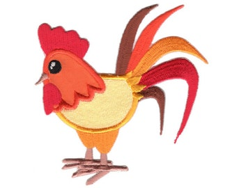 Rooster Iron-On Patch Applique - Kids / Baby