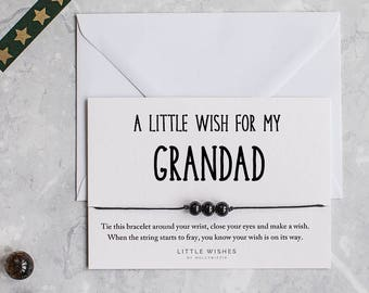 Wish bracelet, father's day gift, gift for grandad, grandad birthday gift, friendship bracelet, grandad gift, charm bracelet