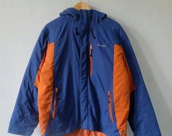 SPALDING Windbreaker Mountain Hiking Parka Jacket Hoodies Rare!! Vintage