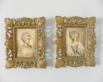 SALE! framed Rococo ladies