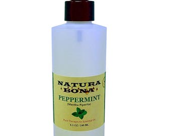 Pure Peppermint Spray Oil - Use at Home to Naturally Repel Ants, Spiders, Mice, Mosquitoes, Roaches and More. (8 oz Trigger Spray/Flip Top)