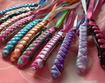 Braided Ribbon Barrettes / Party Pack of 20 YOUR CHOICE of Any Color Combos