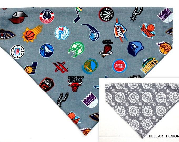 NBA, Basketball ~ Over the Collar ~ Reversible ~ Dog Pet Bandana ~ Bell Art Designs ~ Large DCL729
