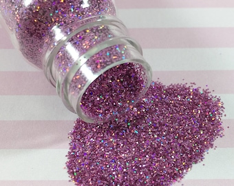 0.2mm Ultra Fine Fuchsia Holographic Glitter | Solvent Resistant Glitter for Nail Art & Crafts