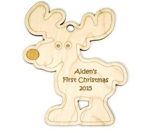 Reindeer Ornament - Personalized Reindeer Christmas Ornament - Custom Reindeer Ornament - First Christmas Ornament - Baby Reindeer Ornament