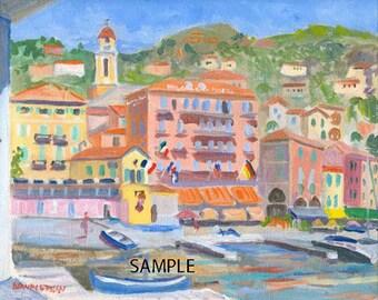 Villefranche -Le Port - 8.5x11 Signed Print
