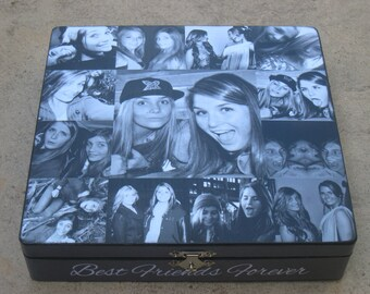 Unique Maid of Honor Gift, Photo Keepsake Box, Personalized Sister Gift, Custom Graduation Collage, Unique Birthday Gift, Best Friends Gift
