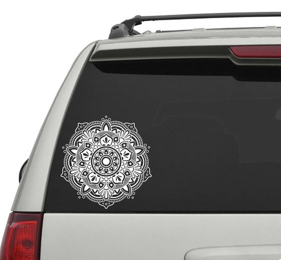 Mandala car decal yoga vinyl sticker rear window sticker