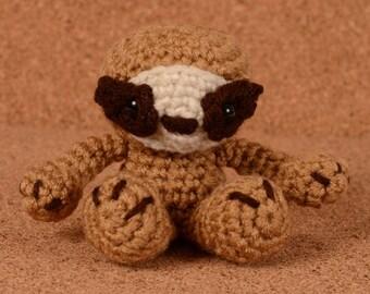 Mini Sydney the Sloth Crochet Toy Doll