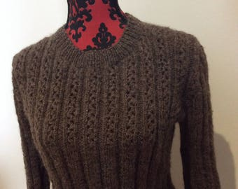 Lace knit yolk jumper