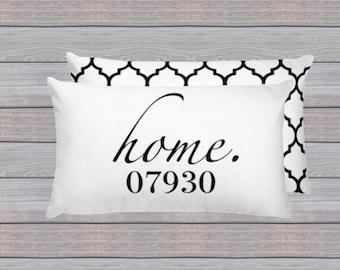 Zip Code Pillow, Home Pillow, Personalized Pillow, New Home Gift, Housewarming Gift,Home Decor Pillow, Realtor Gift, Zipcode Pillow