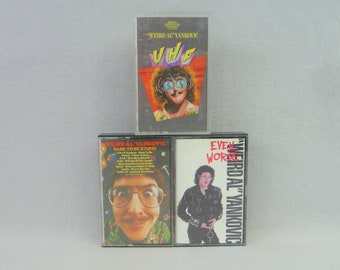 Weird Al Yankovic cassette lot (3)  UHF - Even Worse - Dare To Be Stupid 1980s tapes
