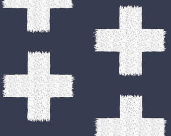 Crossed Impressions Night - Recollection Collection by Katarina Roccella Art Gallery Fabrics Premium Cotton Quilting Fabric One Yard