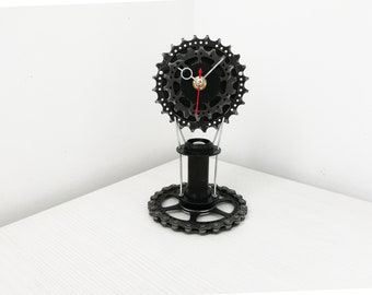 Bike gear clock, bicycle gear clock, gift for boys, gift for him, cassette clock, sprocket clock, bike clock, bicycle clock, gift for dad