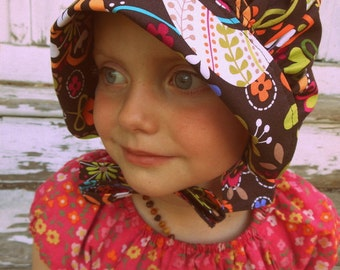 Bonnet Sun Hat - Sun Bonnet for Baby Toddler Child - Birds of Norway