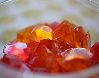 Tangerine Strawberry Gems Hard Candy, Strawberry Candy, Tangerine Candy, Vegan Candy, Hard Candy, Citrus Candy, Natural Flavor Candy