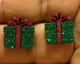 Christmas Gift Box Stud Earrings  Z11
