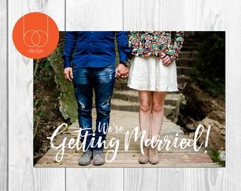 std Photo Card | Photo save the date | Printable invitation | Digital Design| Engagement photo |  Wedding Invitation