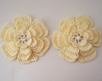 Yellow crochet flower brooch, yellow crochet brooch, flower brooch, handmade, crochet, pin accessory, corsage, wedding, mother of the bride