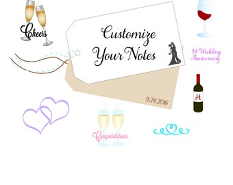 Customized add on for Message in a Bottle Notes, Personalized add on for Message in a Bottle Notes