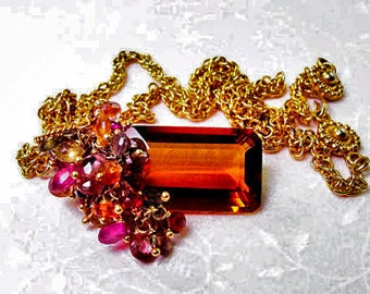 Fall - Tourmaline Cluster Necklace