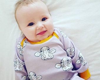 Cows baby dress, toddler dress, kids dress, organic baby clothes, organic dress, cows, organic kids clothes
