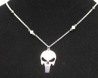 Silver Punisher Inspired Necklace