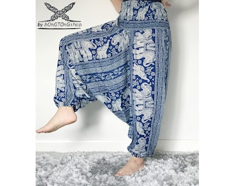 Harem pants women/Thai Harem pants/Yoga pants/Hippie pants/Meditation Harem Pants/Boho pants/Gypsy pants/Elephant pants/Mens hippie pants