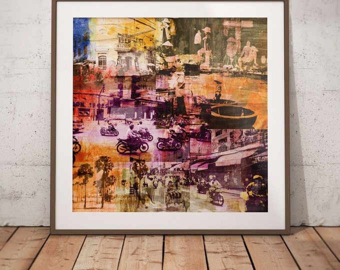 Vietnam Mixed Media XIV by Sven Pfrommer - Artwork is ready to hang with a solid wooden frame