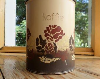 Vintage Brabantia koffiebus / coffee canister / coffee storage bin, original 1970s