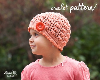 Crochet Hat PATTERN No.76 - Spring Hat Crochet Pattern, Autumn Hat