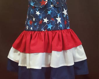Patriotic Stars and Stripes Dress