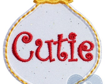 Cutie Christmas Ornament Applique Embroidered Patch , Sew or Iron on