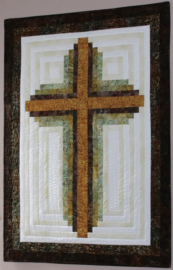 Cross Quilt Pattern Log Cabin Christian Cross Wall
