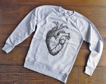 Felpa cuore anatomico,felpe anatomia,felpe uomo,felpa donna,felpe vintage,felpe con stampa grafica vintage,felpe personalizzate,SW13