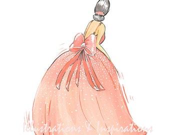Custom Wedding Illustration,Bride Illustration,Wedding Gown Illustration,Cutom Drawing Bride Illustration or Flower Girl ketch,Dress Sketch